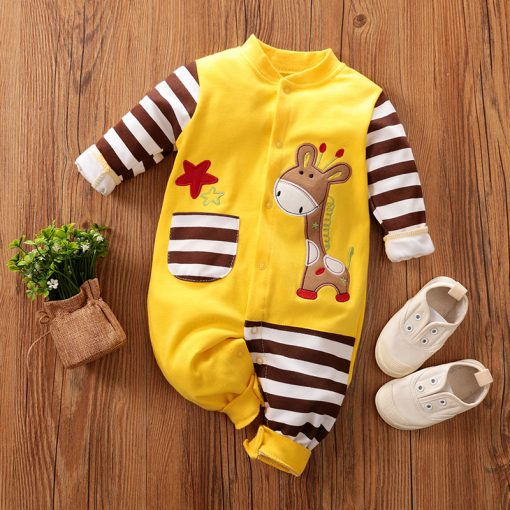 New born giraffe jumpsuit