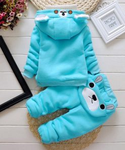 Winter collection, Bear Blue Fleece JumpSuit