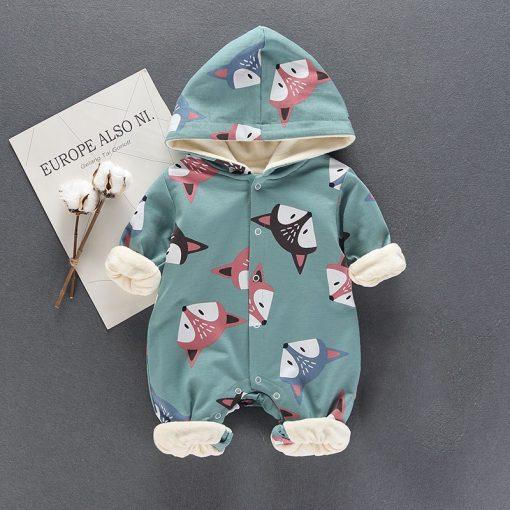 baby girl dresses, baby girl, Fox Tripple Fleece JumpSuit