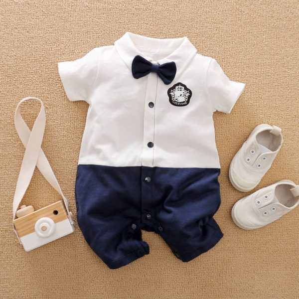 Baby Boy Bow Jumpsuit