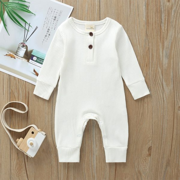 Knitted Cardigan Baby Jumpsuit