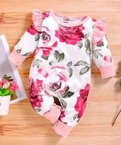 Baby Girl Pink Floral Jumpsuit