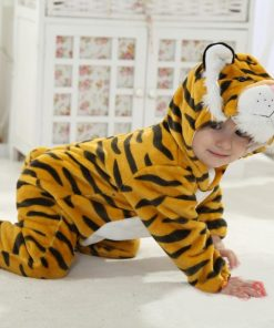Tiger Theme Velvet Jumpsuit